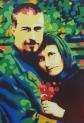 Acrylfarbe, 70 x 100 cm